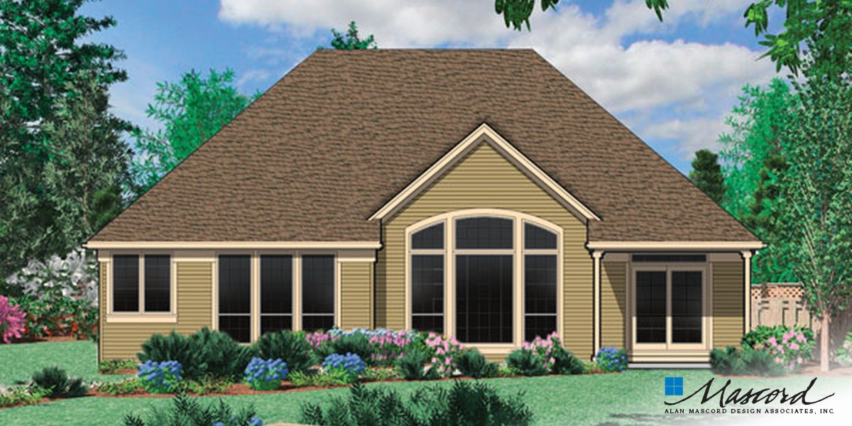 Image for Calloway-Cottage Style Home with Vaulted Great Room and Fireplace-Rear Rendering