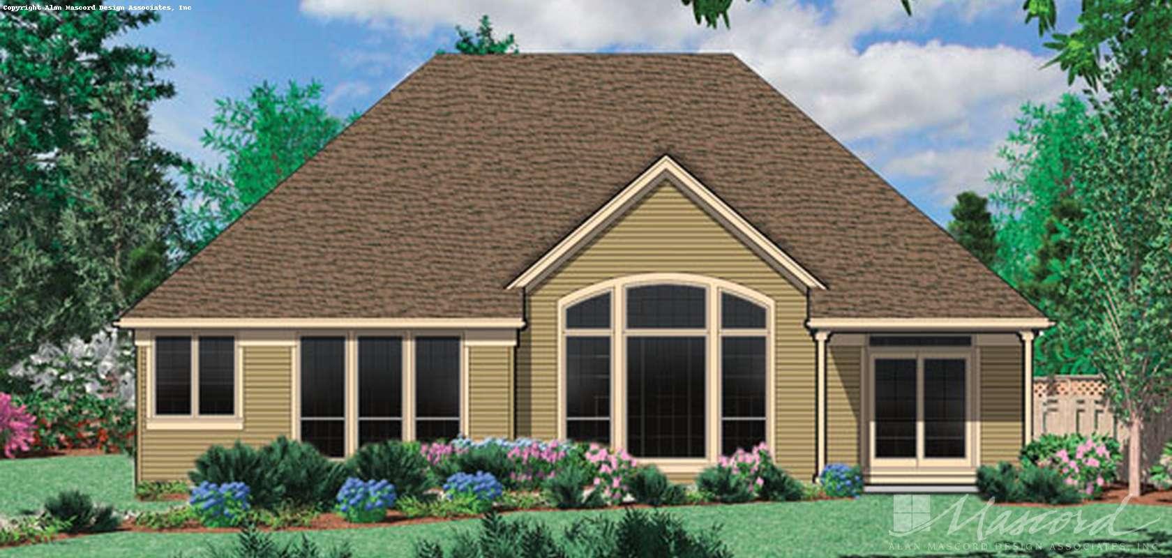 Mascord House Plan B1150A: The Calloway