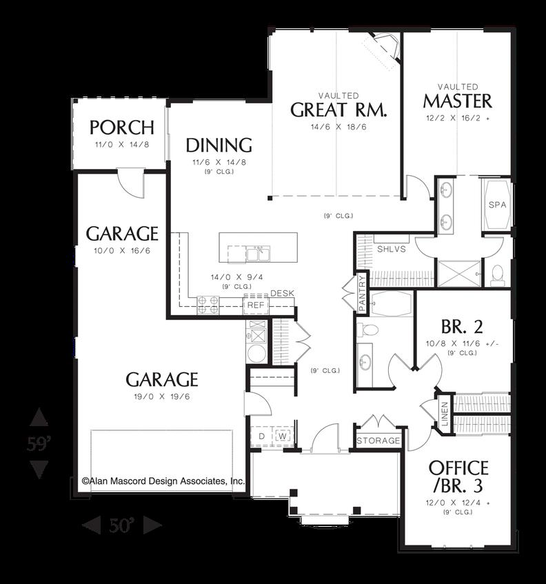 House Plan B1152a The Morton