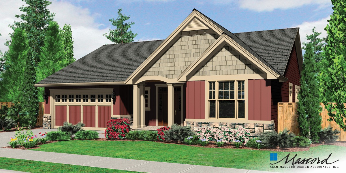 mascord house plan 1152a - the morton