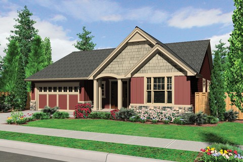 Image for Morton-Craftsman Plan with High Ceilings and Covered Porch-225