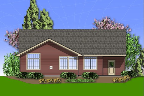 Image for Morton-Craftsman Plan with High Ceilings and Covered Porch-226