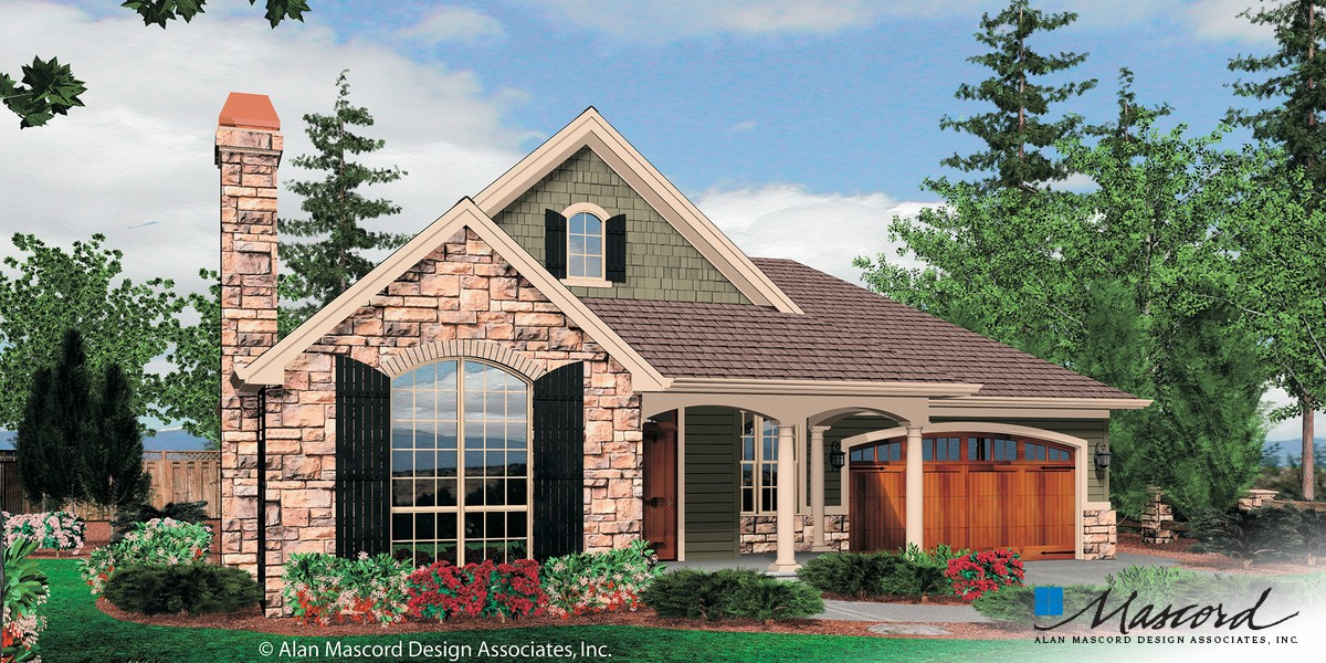 Mascord house plan 1153 the odell for House plans mascord