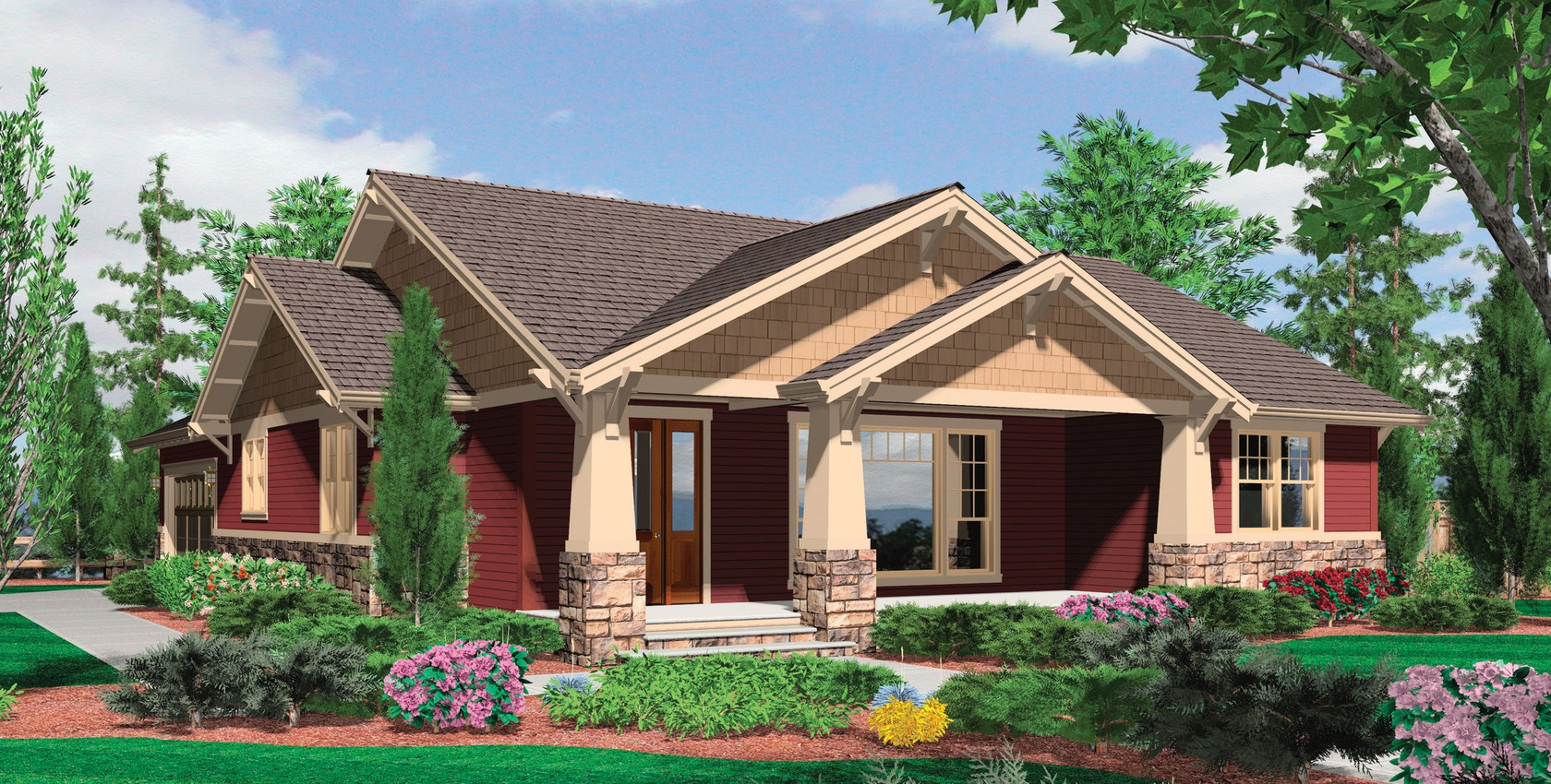 Image for Ellington-3 Bedroom Craftsman Plan with Spacious Feel-236