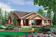 Front Rendering of Mascord House Plan 1154 - The Ellington