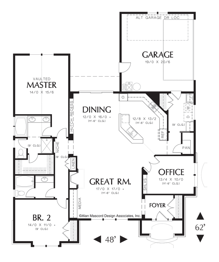 Mascord House Plan 1154a The Trumbull