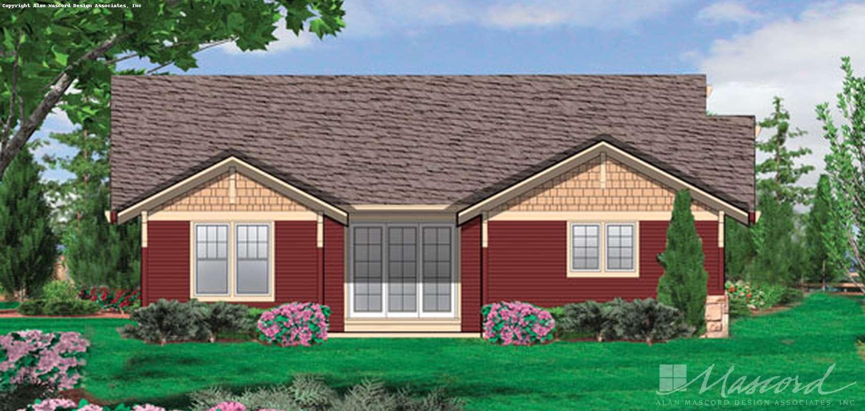 Mascord House Plan 1154: The Ellington