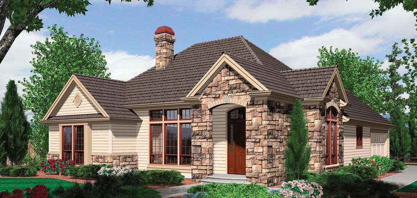 Mascord House Plan 1154A: The Trumbull