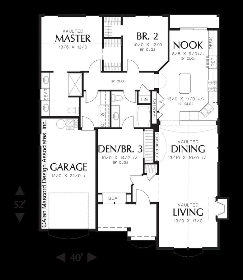 Mascord Floor Plans Mascord House Plan 22122q The