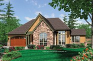 Front Rendering of Mascord House Plan 1156 - The Stuart