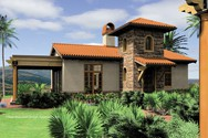 Front Rendering of Mascord House Plan 1157 - The Rosabella