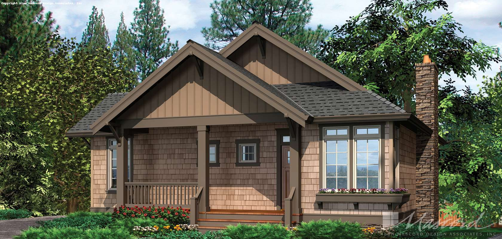 Mascord House Plan 1158: The Abery