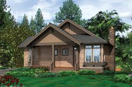 Front Rendering of Mascord House Plan 1158 - The Abery