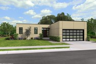 Front Rendering of Mascord House Plan 1160A - The Galway