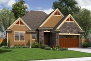 Front Rendering of Mascord House Plan 1161ES - The Hoover