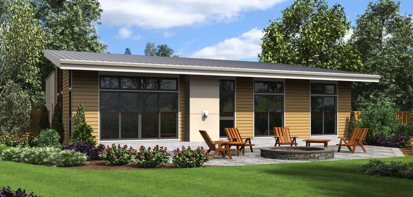 Mascord House Plan 1161B: The Cascade Lake