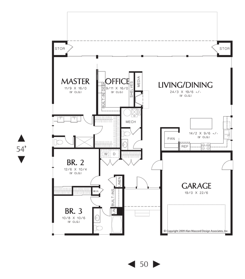 Contemporary house plan 1162 the portland 1915 sqft 3 bedrooms floor plans malvernweather Image collections