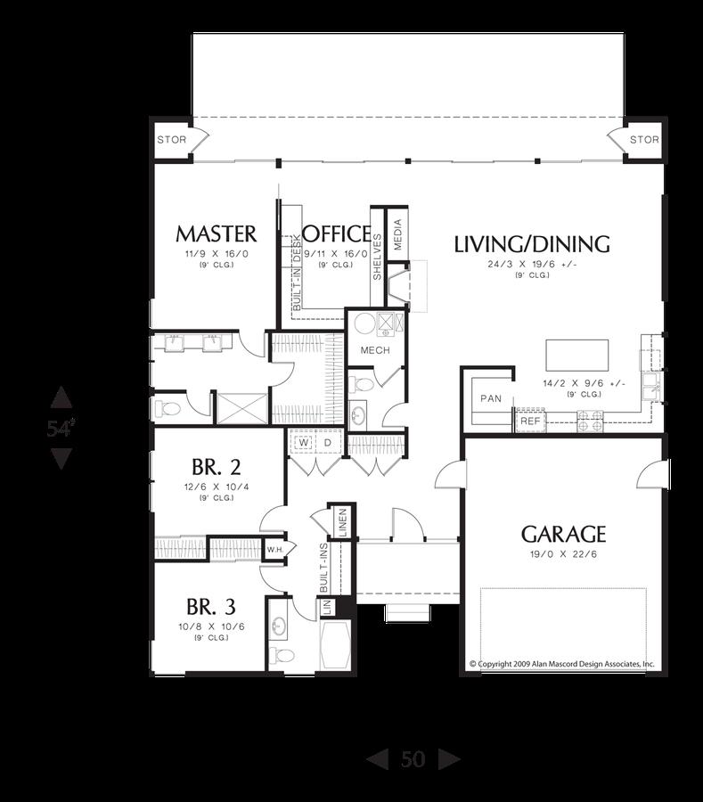 Mascord House Plan 1162 The Portland