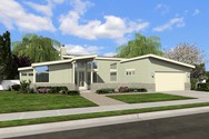 Front Rendering of Mascord House Plan 1163 - The Westside