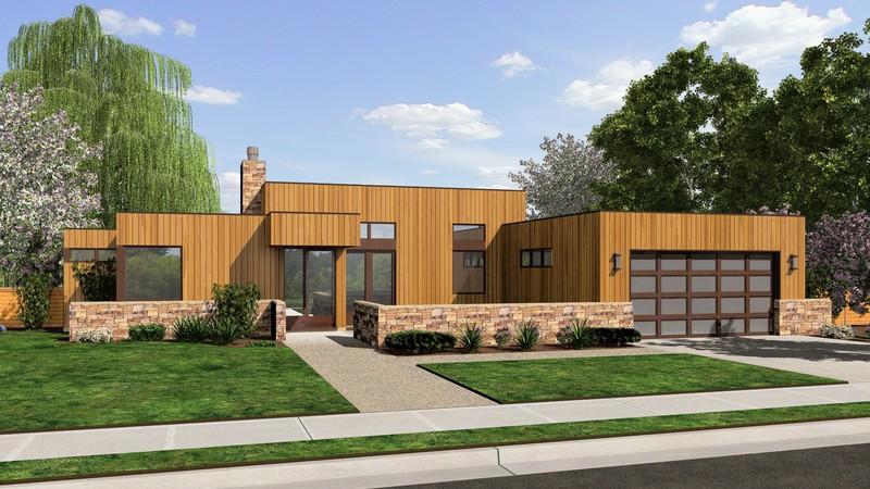 Contemporary House Plan 1163a The Queensbury 1508 Sqft 2