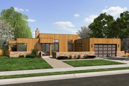 Front Rendering of Mascord House Plan 1163A - The Queensbury