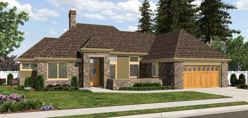 Mascord House Plan 1163B: The Oxenhope