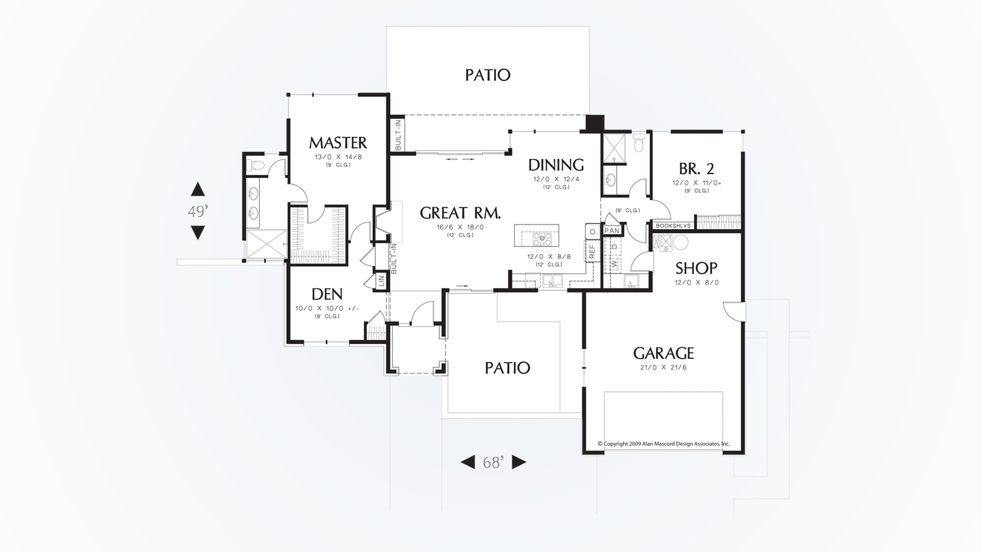 100 Houseplans Co Mascord House Plan 2453 The Aurea
