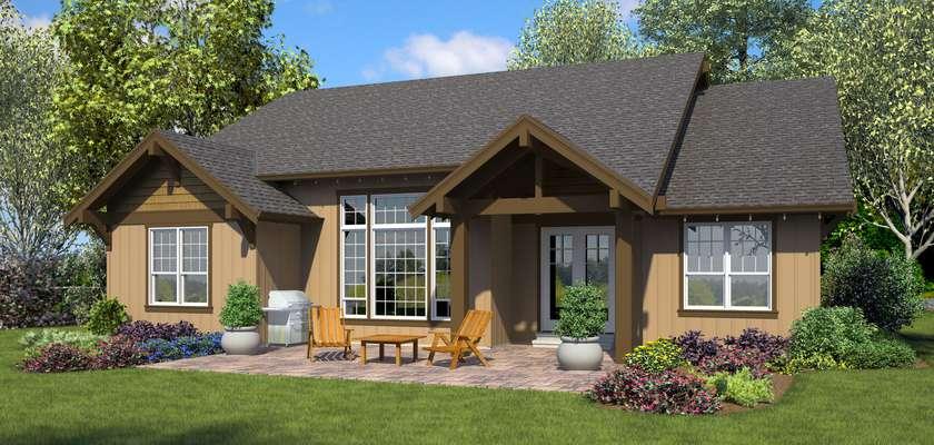 Mascord House Plan 1168A: The Americano