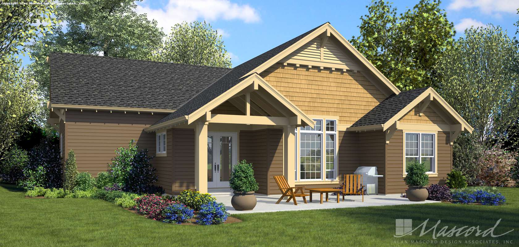 Mascord House Plan 1168C: The Cafe