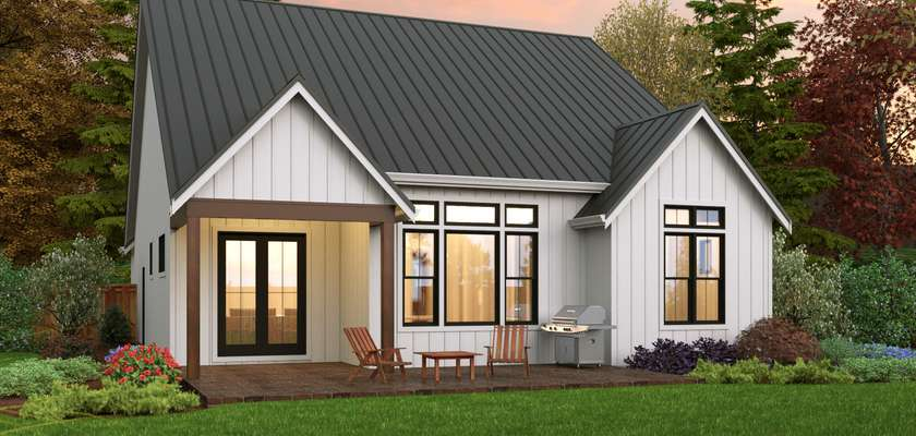 Mascord House Plan 1168D: The Fountain Valley