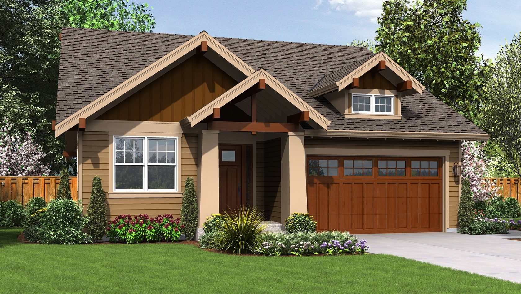 Main image for house plan B1168ES: The ESPRESSO