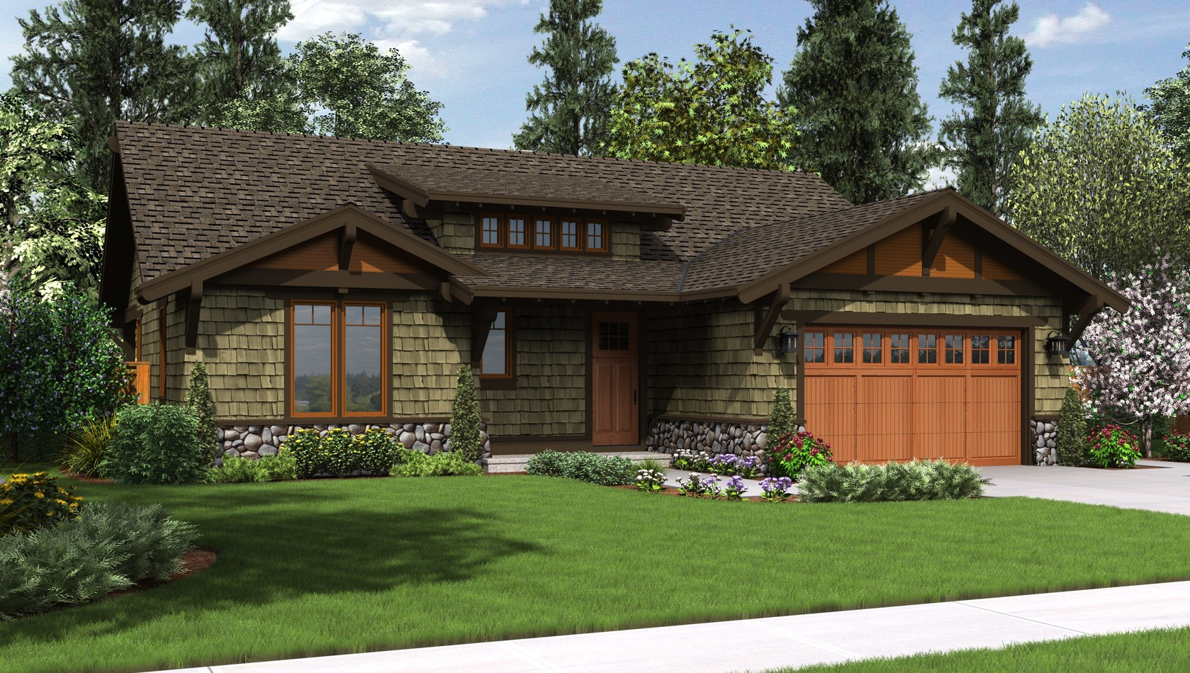 Mascord House Plan 1169A: The Pasadena
