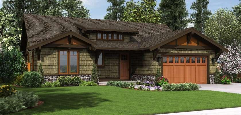 Mascord House Plan 1169A: The Pasadena
