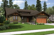 Front Rendering of Mascord House Plan 1169A - The Pasadena