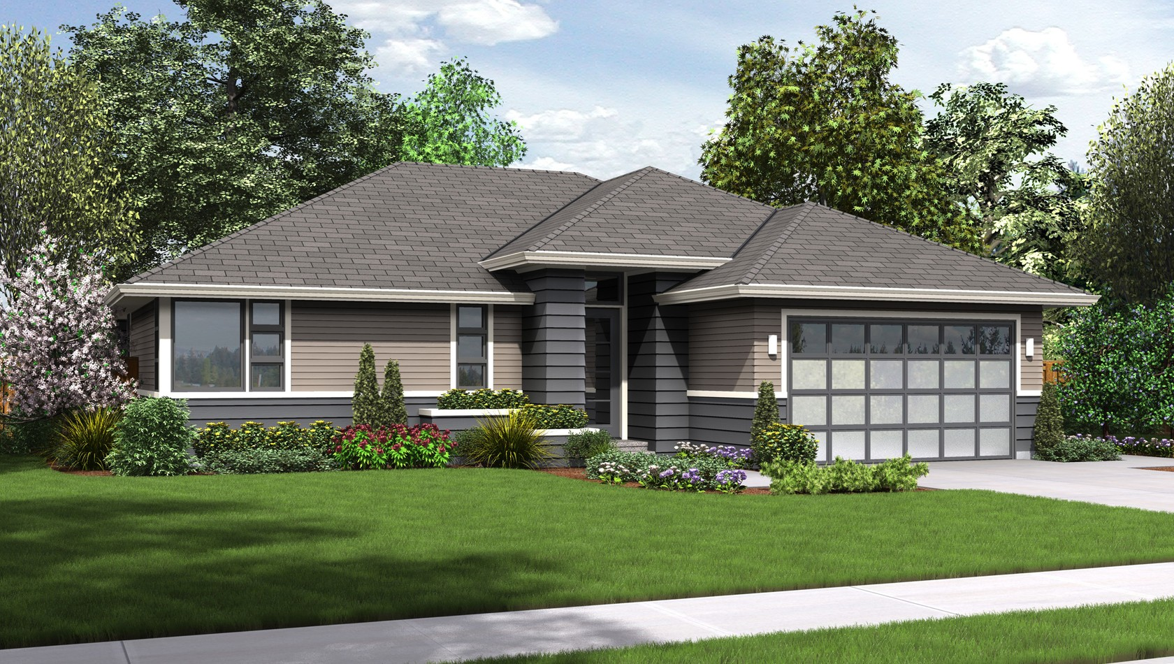 Main image for house plan 1169ES: The Modern Ranch