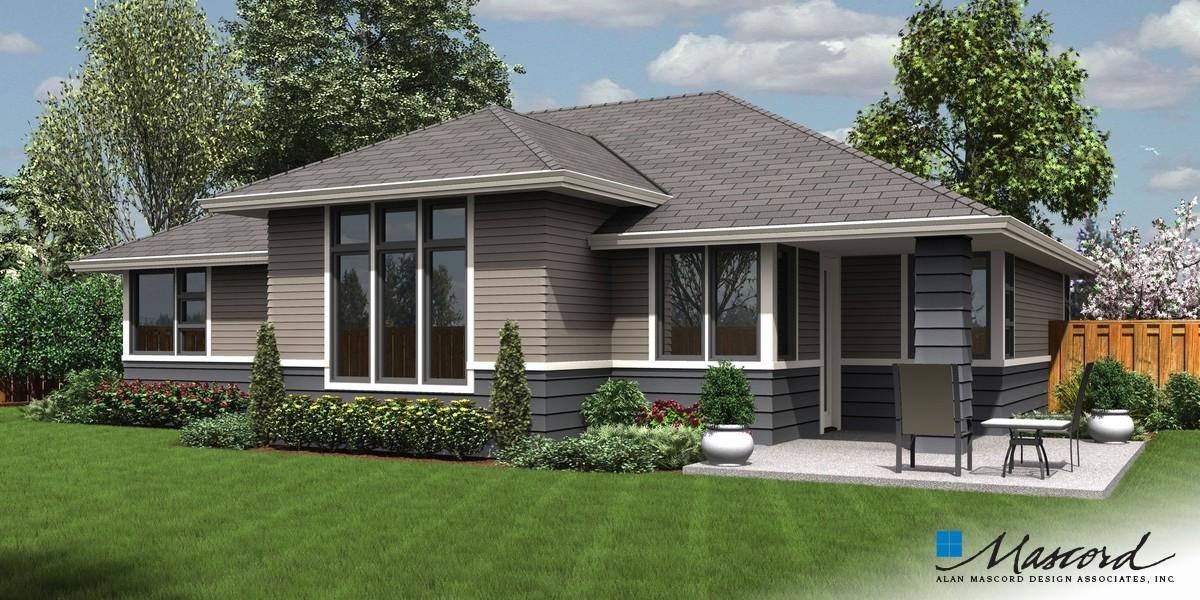 mascord house plan 1169es - the modern ranch