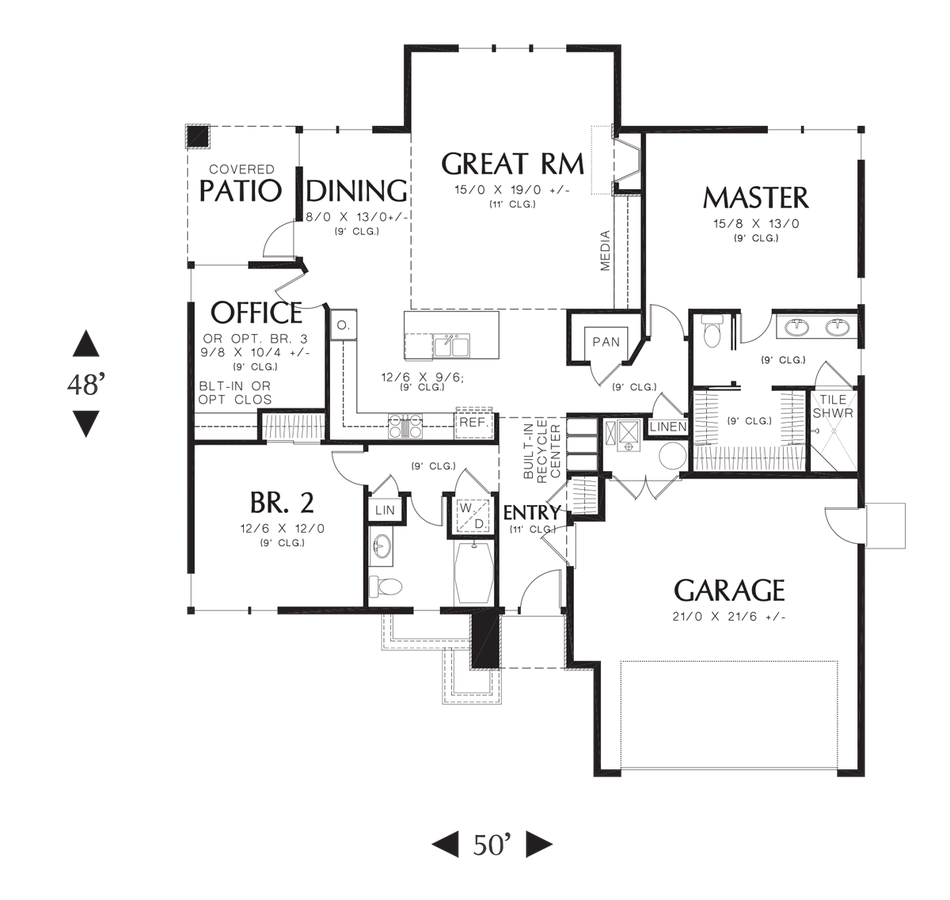 Image for Modern Ranch-Modern Home Designed for Maximum Efficiency Without Compromise-Main Floor Plan