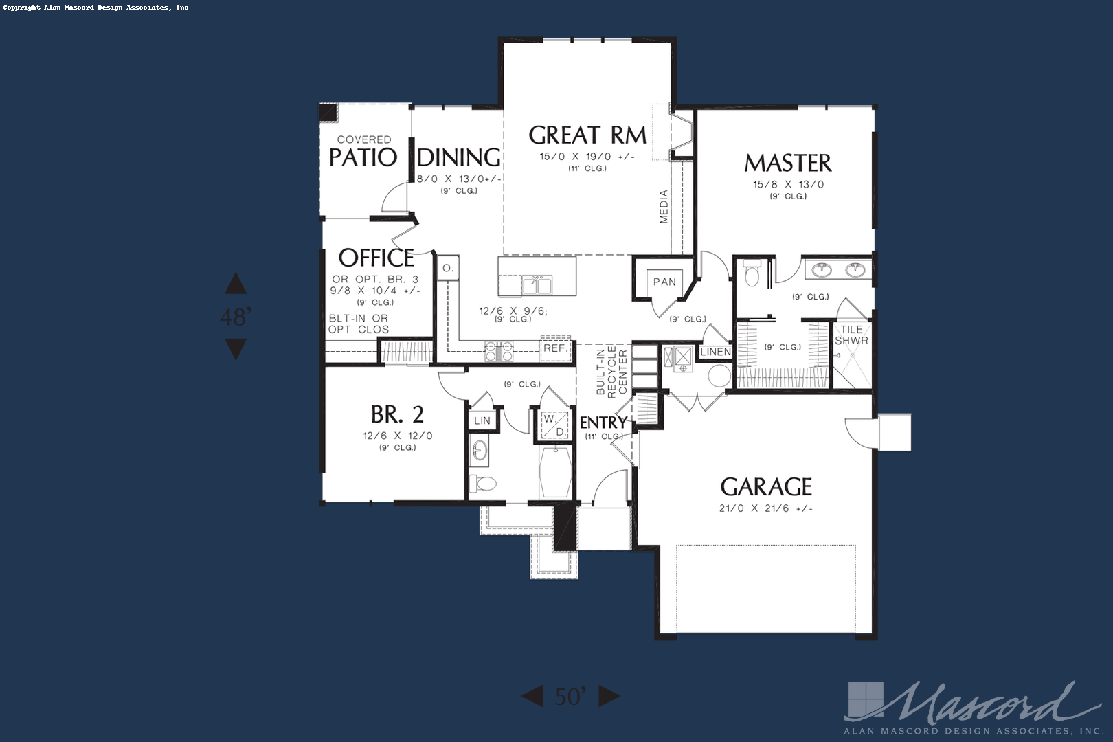 Ranch House Plan 1169ES The Modern Ranch: 1608 Sqft, 3 Beds ... on southern home kitchen plans, ranch house kitchen designs, ranch house elevation drawings, lake house kitchen plans,