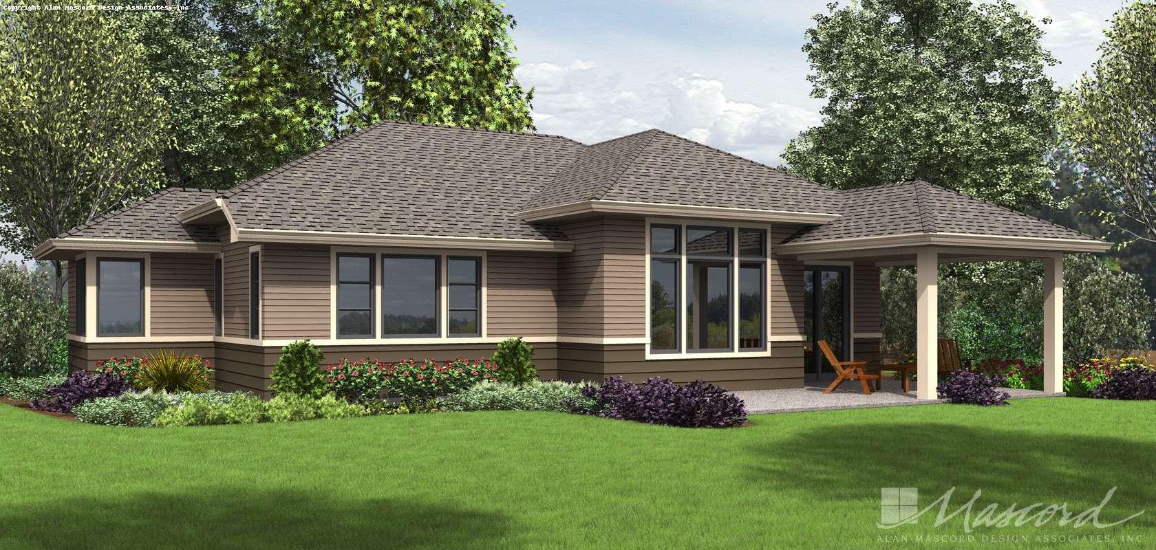 Mascord House Plan 1169B: The Whittier