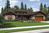 Front Rendering of Mascord House Plan 1170 - The Meriwether
