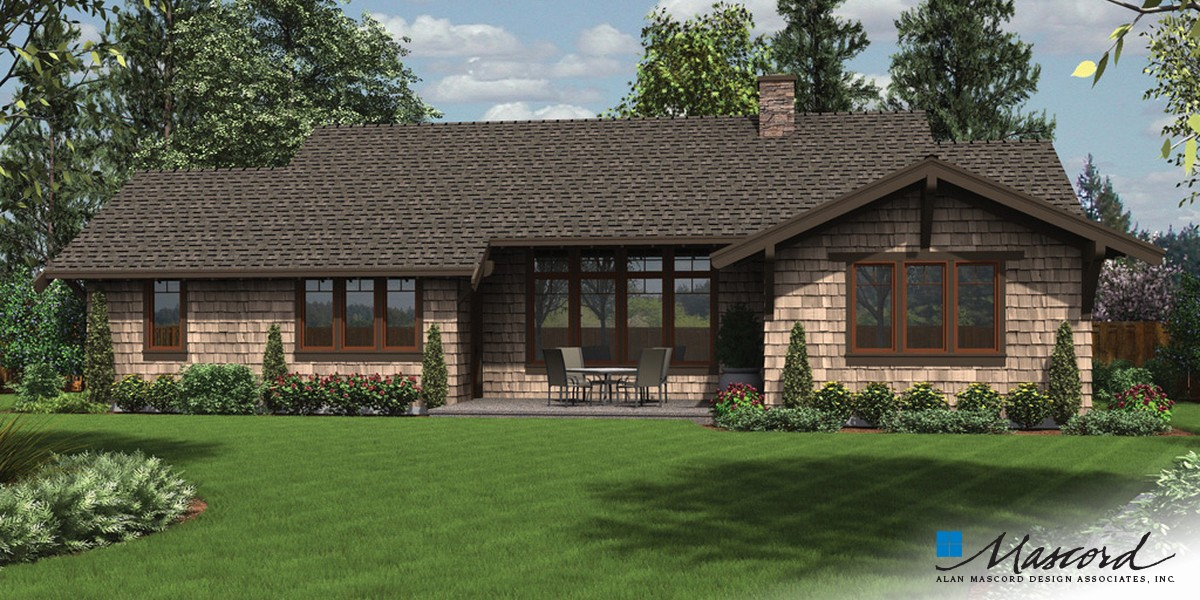 Image for Meriwether-Traditional Craftsman Ranch with Oodles of Curb Appeal - and Amenities to Match!-Rear Rendering