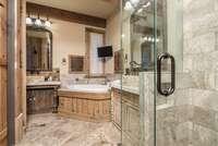 Master Bathroom<br>Gilmer Development (www.gilmerdevelopment.com)
