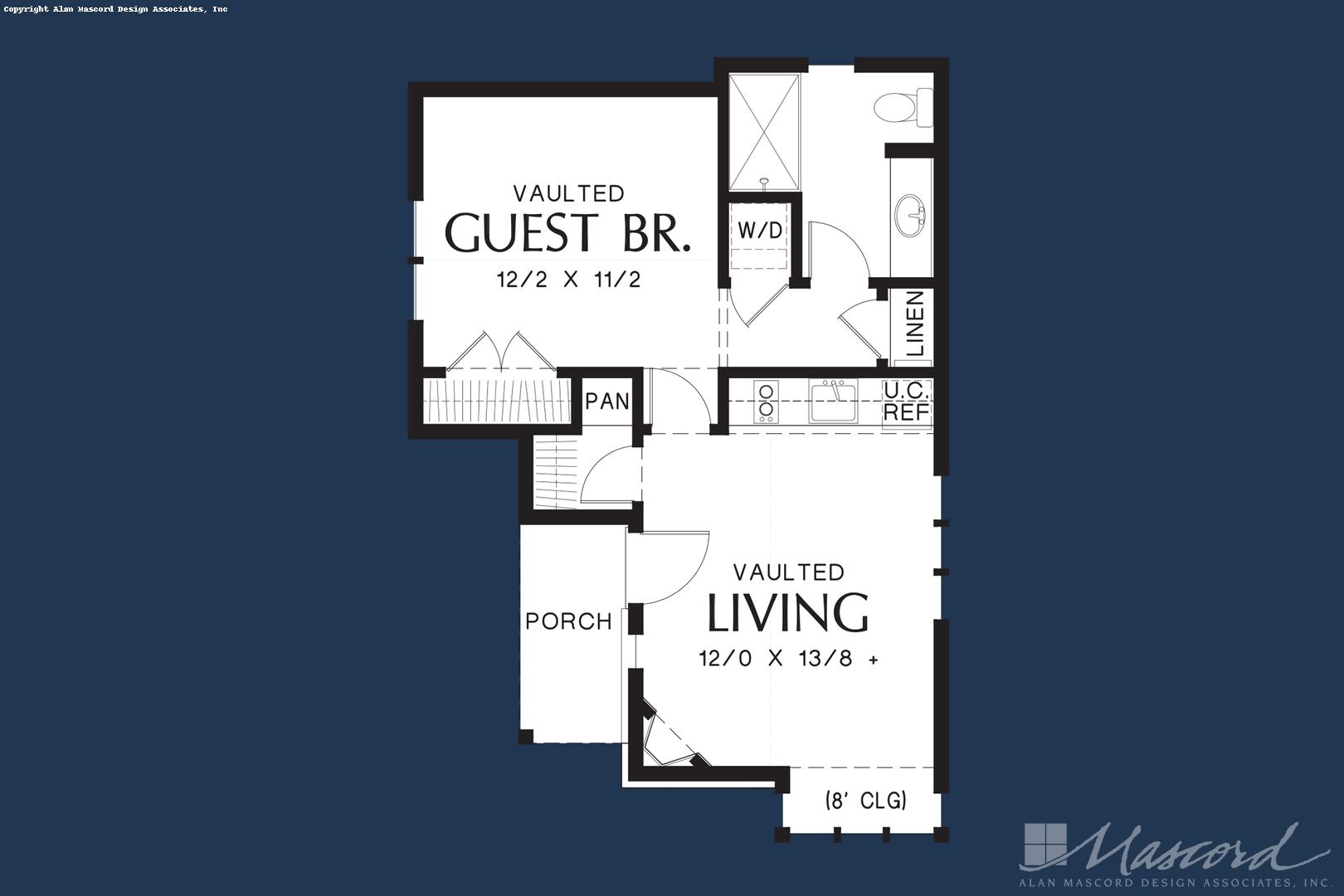 European House Plan 1173 The Mirkwood 544 Sqft 1 Beds 1