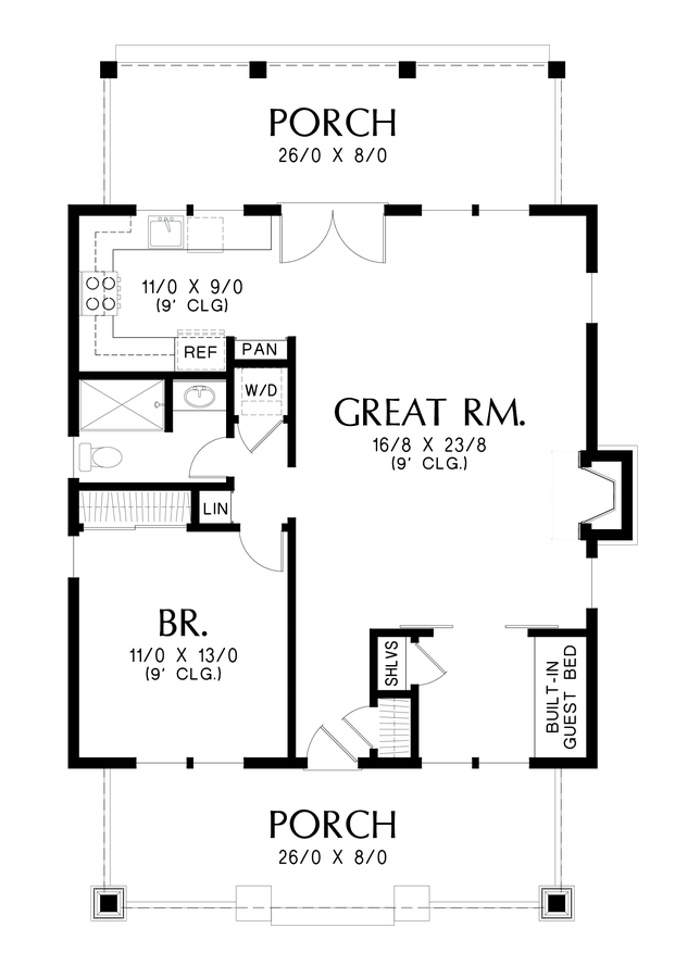 Image for Aumsville-A Beautifully Detailed Craftsman Getaway-Main Floor Plan