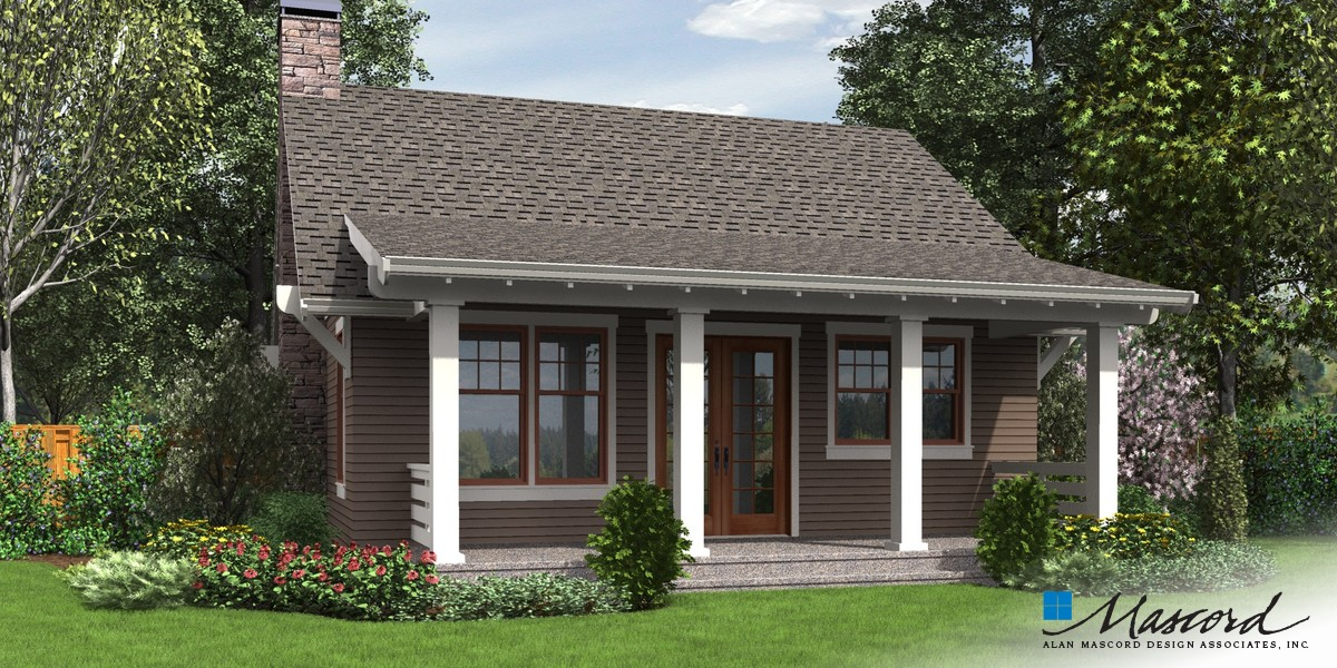 Image for Aumsville-A Beautifully Detailed Craftsman Getaway-Rear Rendering