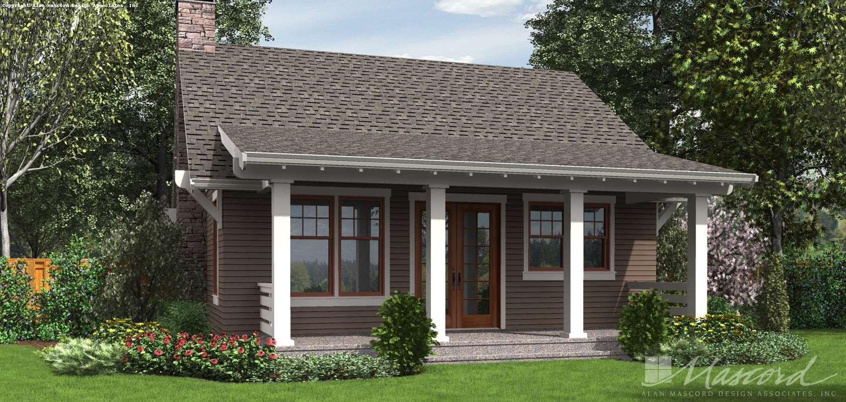 Mascord House Plan 1176: The Aumsville