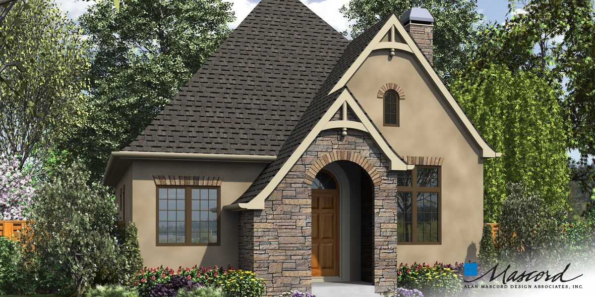Image for Cecil-Guest Cottage, Vacation Home or Compact Living - This Plan is Perfect in Any Case-Front Rendering