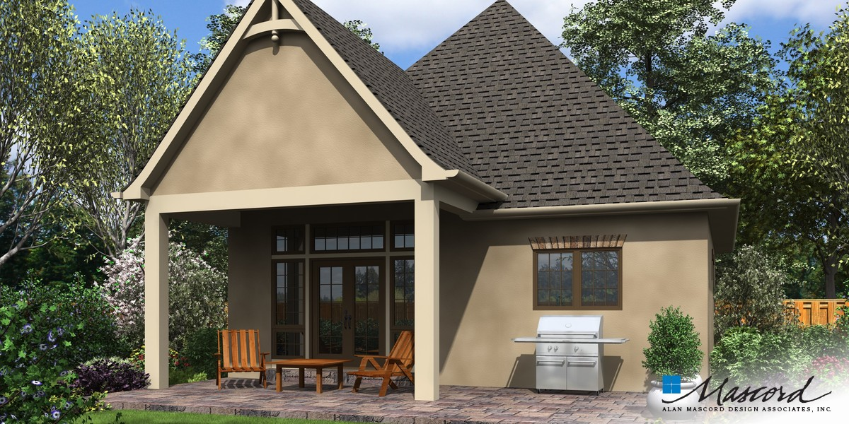 Image for Cecil-Guest Cottage, Vacation Home or Compact Living - This Plan is Perfect in Any Case-Rear Rendering