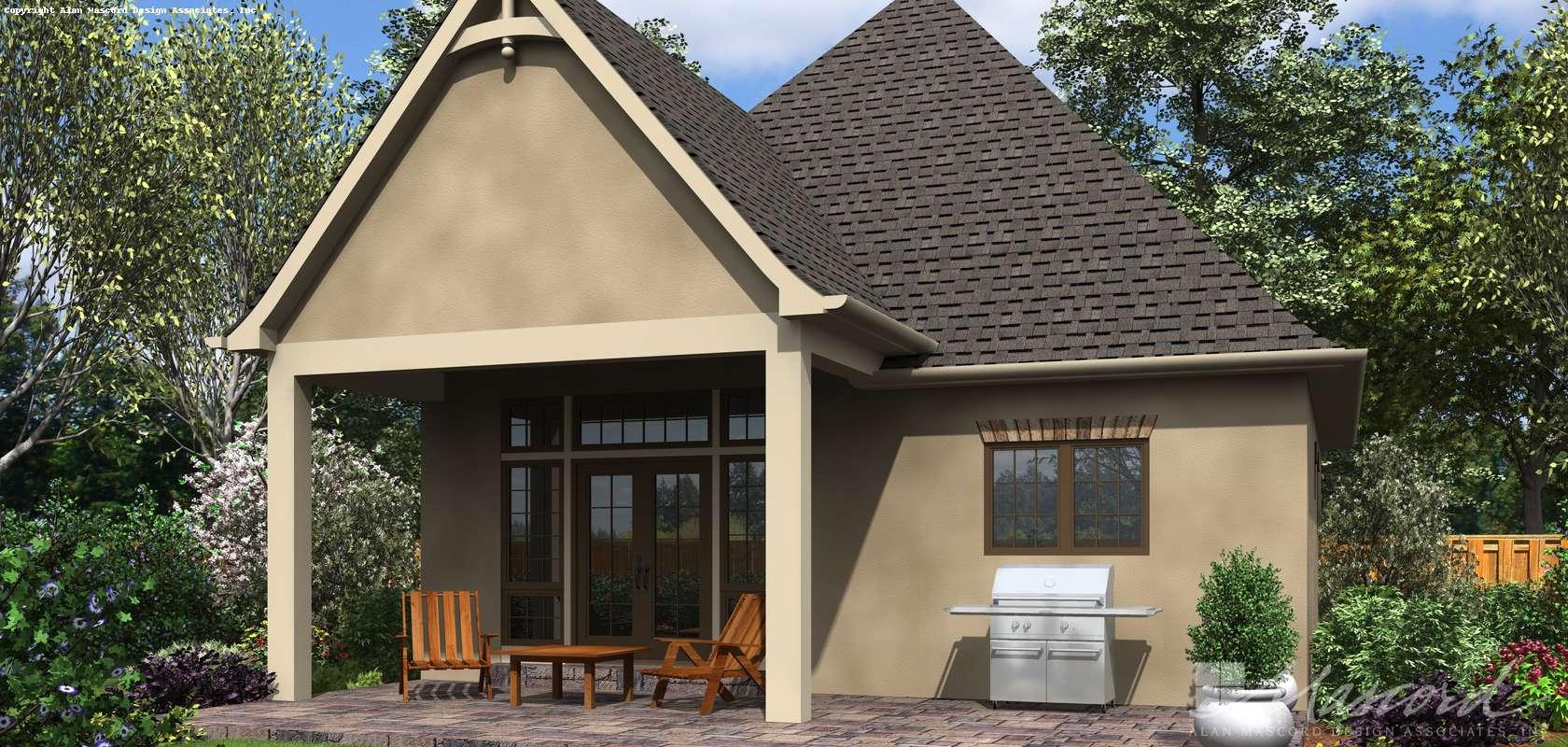 Mascord House Plan 1176A: The Cecil