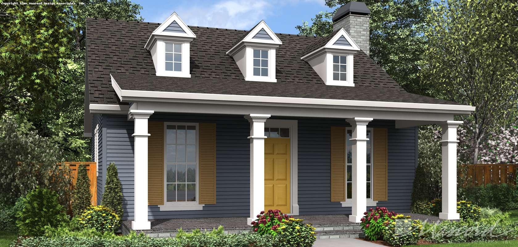 Mascord House Plan 1176B: The Decorah